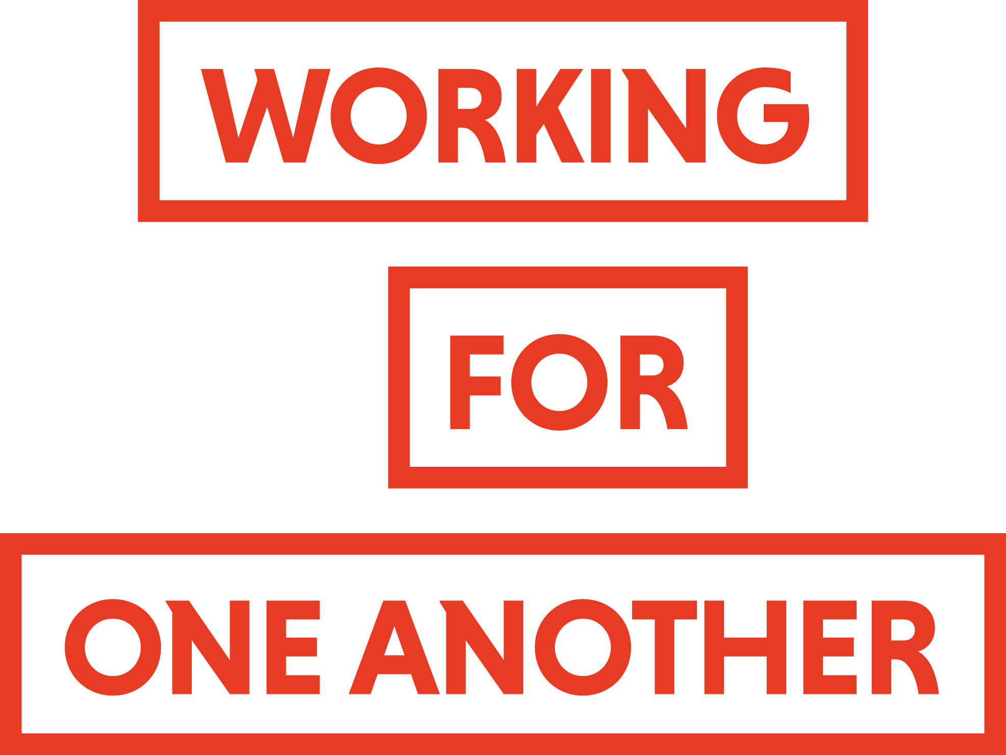 SAK's slogan Working for one another, vertical, jpg